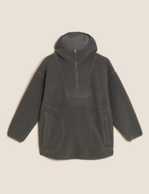 Borg Oversized Hooded Jacket