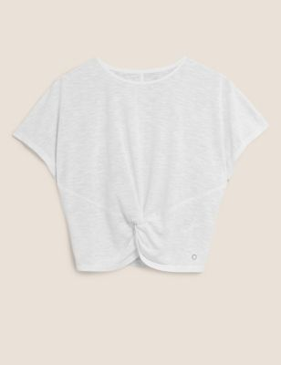 Lightweight Twist Front Cropped Top