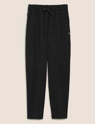 Woven Relaxed Tapered 7/8 Walking Trousers