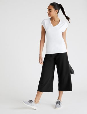 Cotton High Waisted Culottes