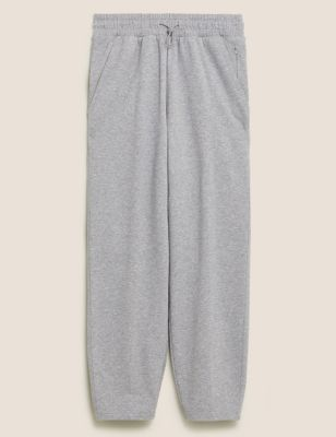 Cotton Tapered 7/8 Sports Joggers