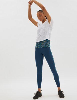 Go Move Printed Panelled Gym Leggings