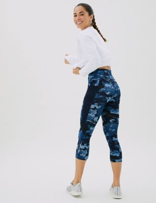Go Train Printed Cropped Gym Leggings