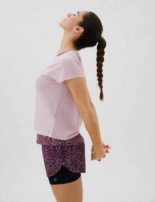 Woven Printed Layered Running Shorts