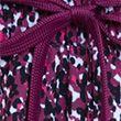 Woven Printed Layered Running Shorts - darkmagenta