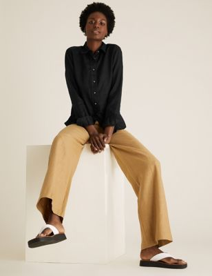 Pure Linen Long Sleeve Shirt