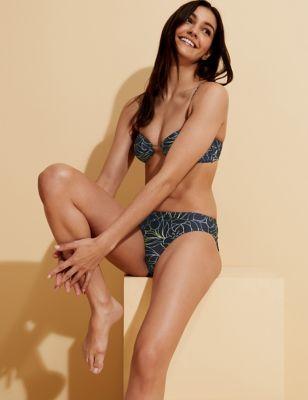 Floral Multiway Bandeau Bikini Top