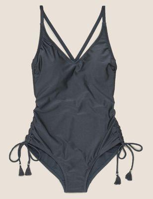 Shine Padded Plunge Swimsuit
