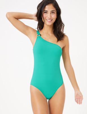 Padded One Shoulder Bandeau Swimsuit
