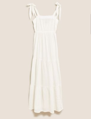 Pure Cotton Midi Slip Beach Dress