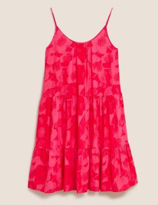 Floral Mini Tiered Beach Dress