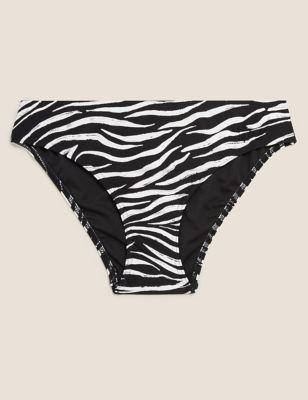 Animal Print High Leg Bikini Bottoms