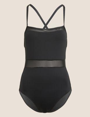 Mesh Square Neck Swimsuit