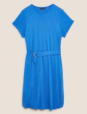 Jersey Belted Beach Dress