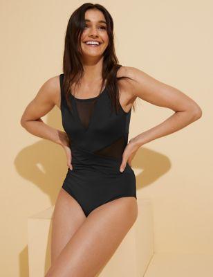 Mesh Insert Swimsuit