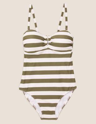 Striped Bandeau Swimsuit