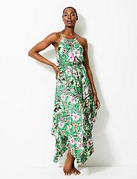 3dbbebdf907b Leopard Print Maxi Waisted Beach Dress   M&S Collection   M&S