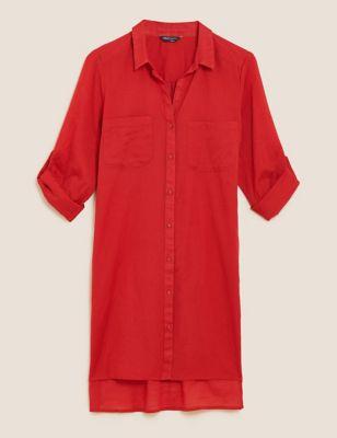 Pure Cotton Shirt Beach Dress