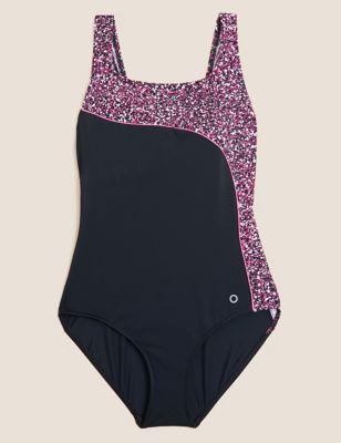Animal Print Scoop Neck Swimsuit