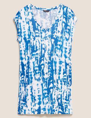 Jersey Tie Dye Mini Shift Dress