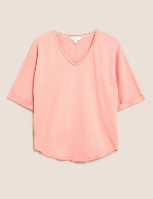 Pure Cotton Scoop Neck Relaxed Sweatshirt