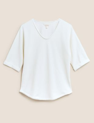 Pure Cotton Relaxed Short Sleeve Sweatshirt