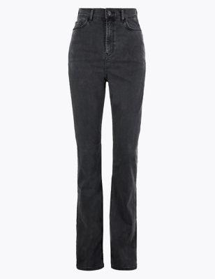 Tencel™ High Waisted Slim Flare Jeans