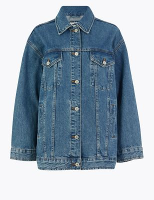 Denim Single Breasted Jacket
