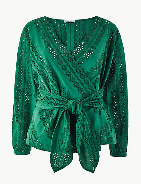 Pure Cotton Embroidered Blouse