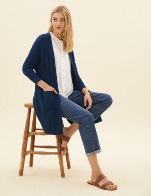 Linen Ribbed Longline Cardigan