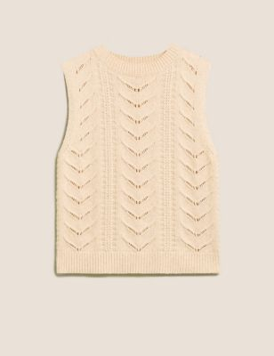 Cotton with Wool Textured Knitted Vest
