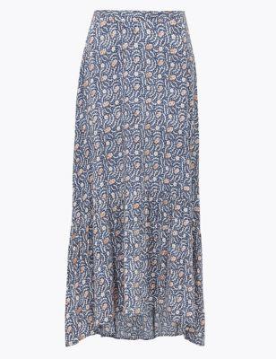 Floral Midi Skater Skirt