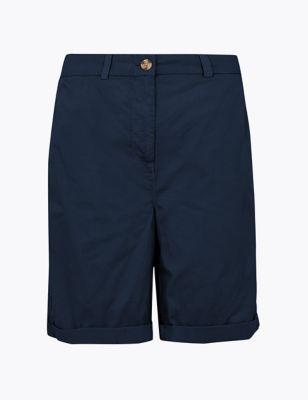 Pure Cotton Long Chino Shorts