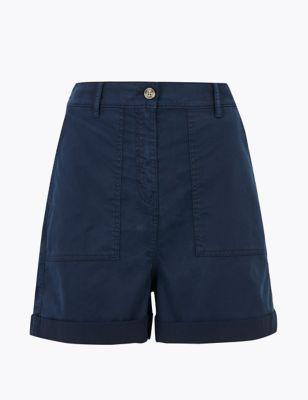 Cotton Blend Cargo Chino Shorts