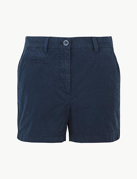 Shorter Length Pure Cotton Chino Shorts