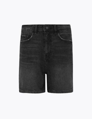 Denim Mom High Waisted Shorts