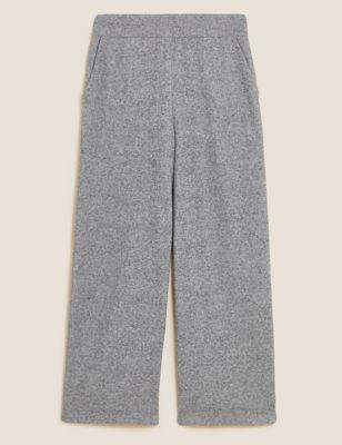 Wide Leg Ankle Grazer Trousers