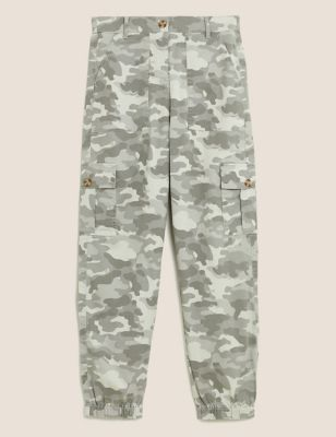 Cargo Utility Camo Tapered Trousers