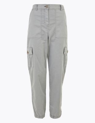 Cargo Utility Tapered Ankle Grazer Trousers