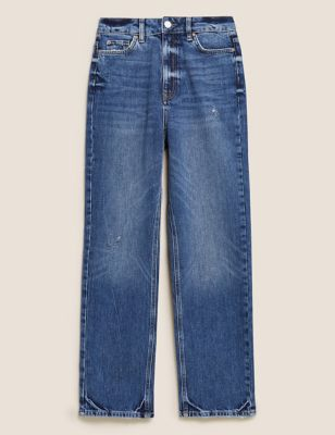 High Waisted Authentic Straight Leg Jeans