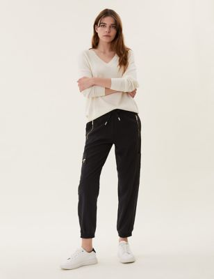 Utility Drawstring Tapered Joggers