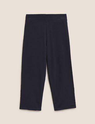 Cotton Straight Leg Cropped Joggers