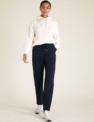 Tencel™ Tapered Ankle Grazer Trousers