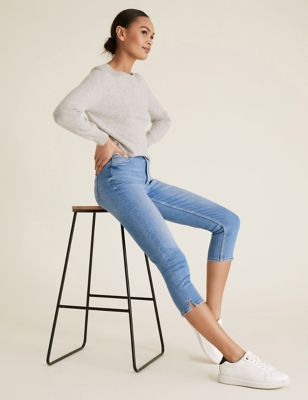 Supersoft High Waisted Skinny Cropped Jeans