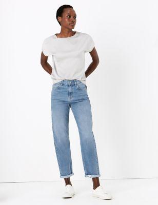 Boyfriend Jeans with Stretch