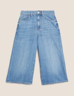 Denim Cropped Culottes