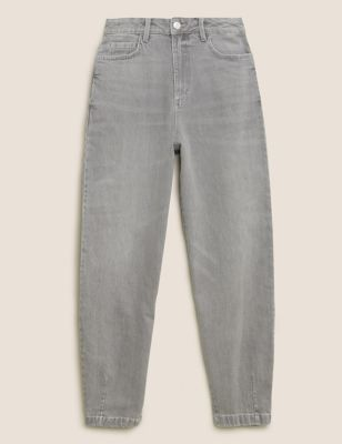 High Waisted Balloon Jeans