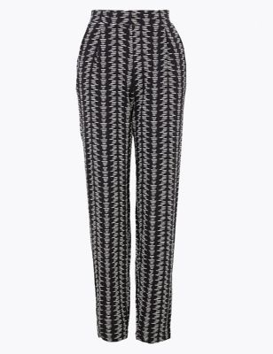 Jersey Tapered Ankle Grazer Trousers