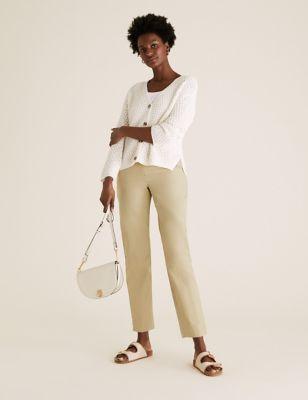Cotton Straight Leg Chinos