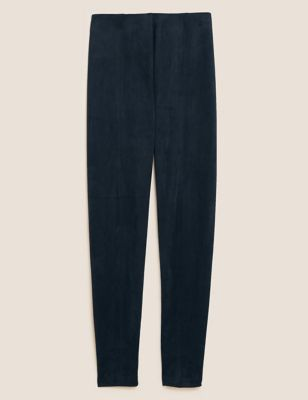 Suedette High Waisted Leggings
